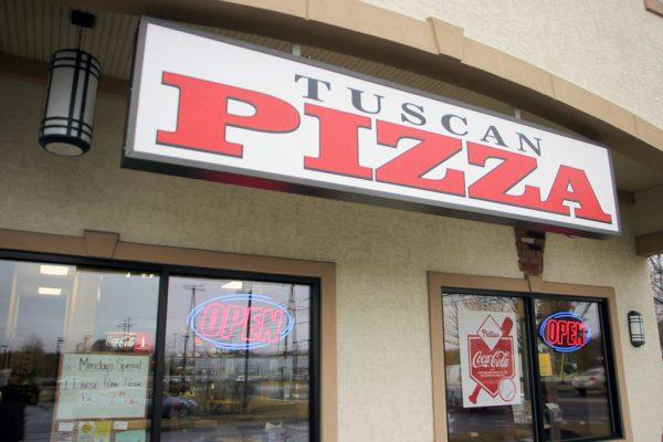 Tuscan Pizza Turnersville Sicklerville NJ store front sign