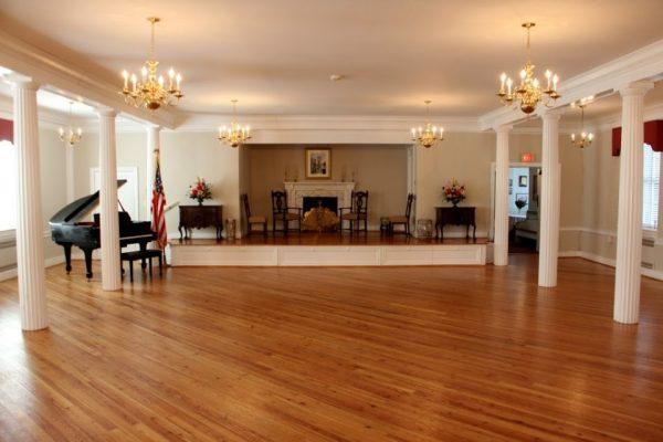 Haddon Fortnightly Womens Club Haddonfield NJ meeting hall piano