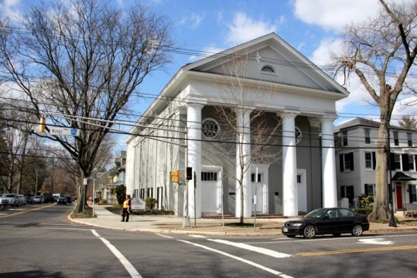 Haddon Fortnightly Womens Club Haddonfield NJ meeting hall porch columns front pillars methodist church