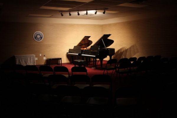 Jacobs Music Cherry Hill NJ Steinway & Sons dueling pianos concert room