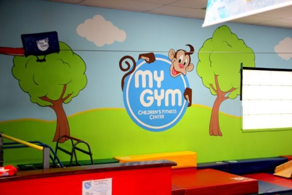 My Gym Cherry Hill Kids Gymnastics and Birthday Party Place Barclay Farms Shopping Center Cherry Hill NJ wall painting