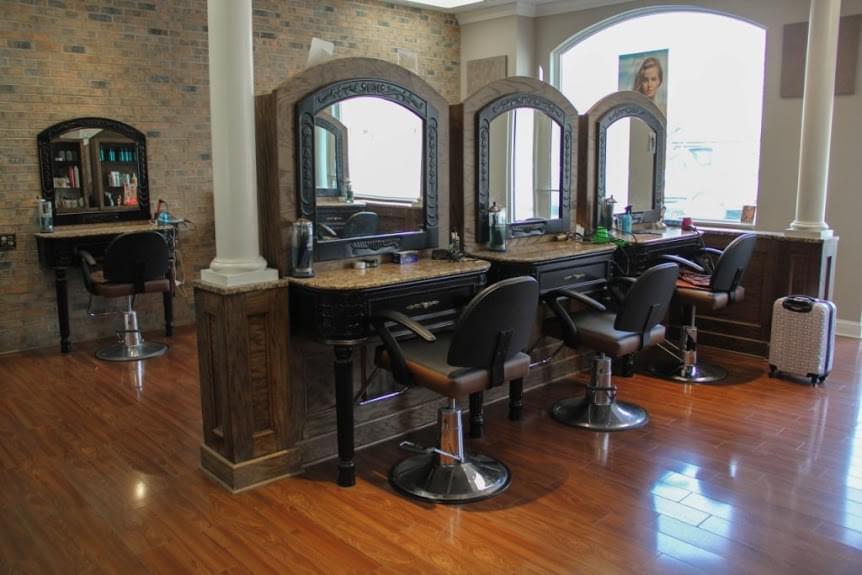 The Art of Hair Salon Old Bridge NJ hair stylist chairs mirrors ...