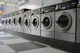 1925 Laundromat Bronx NY laundry washer machines
