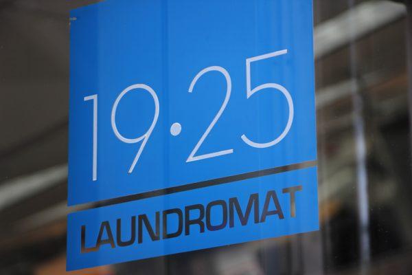 1925 Laundromat Bronx NY logo window