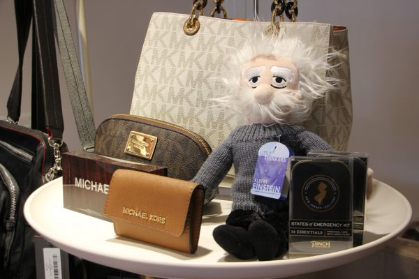 Botari Princeton NJ Michael Kors handbag purses Albert Einstein doll