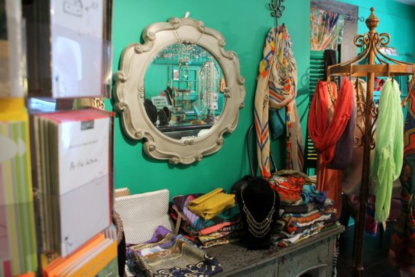 Hannah of Princeton NJ accessories display mirror