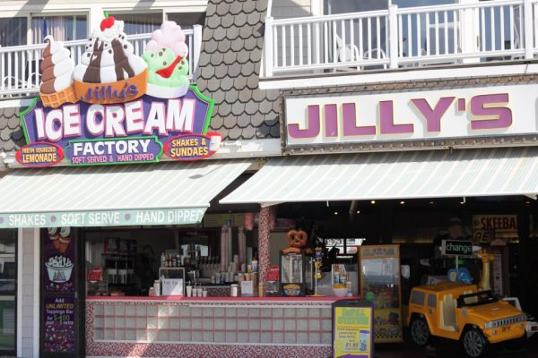 Jilly's Arcade Ocean City NJ store front ice cream factory