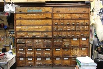 Kopp's Cycle Princeton NJ wood tool cabinet