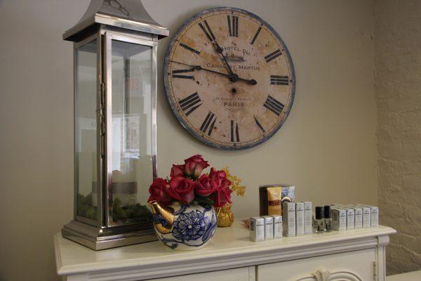 Princess Nail Salon Princeton NJ clock teapot vase roses