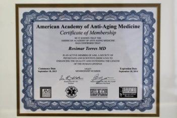 Rosimar Torres-Leon MD – San Juan, Puerto Rico certificate