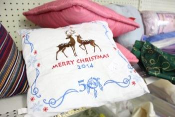 St. Vincent de Paul Society Berlin NJ thrift store christmas pillow