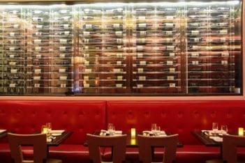 just restaurant wine rack table seating