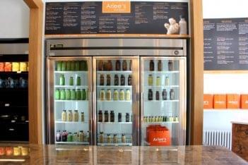 Arlee's Raw Blends Princeton NJ organic juices refrigerator