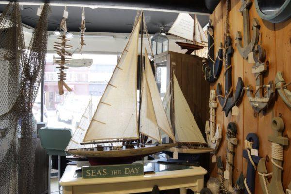 Ben's Furniture Co. Newport RI seas seize the day model boat
