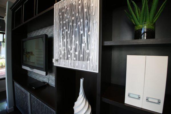 California Closets Palm Beach Gardens FL black entertainment shelf