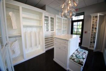 California Closets Palm Beach Gardens FL white marble top