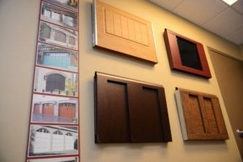 Capital City Garage Doors Round Rock TX wood panel samples
