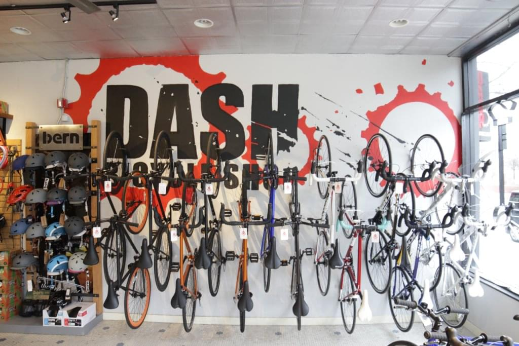 DASH Bicycle Shop Providence RI bike wall mount