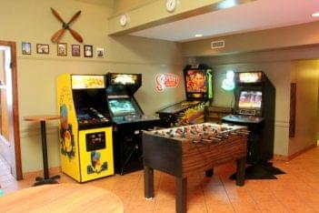 Destination Dogs New Brunswick NJ arcade videogames fooseball pinball machine