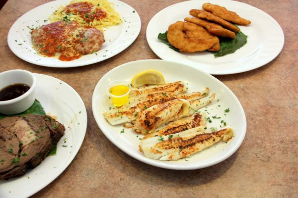 Elmer Diner Elmer NJ tilapia chicken fingers pasta chicken parm steak
