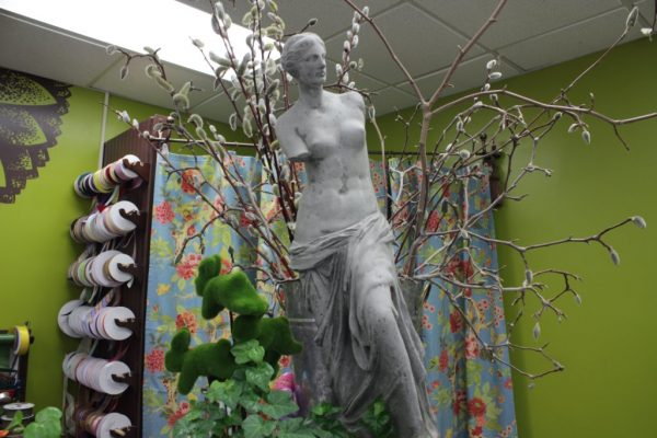 Floral Designs by LiRog Providence RI armless statue
