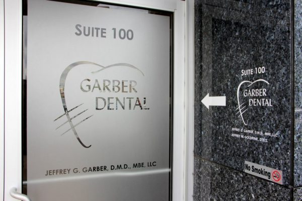 Garber Dental Bala Cynwyd PA door sign