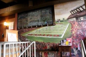 George Street Ale House New Brunswick NJ rutgers football field mural
