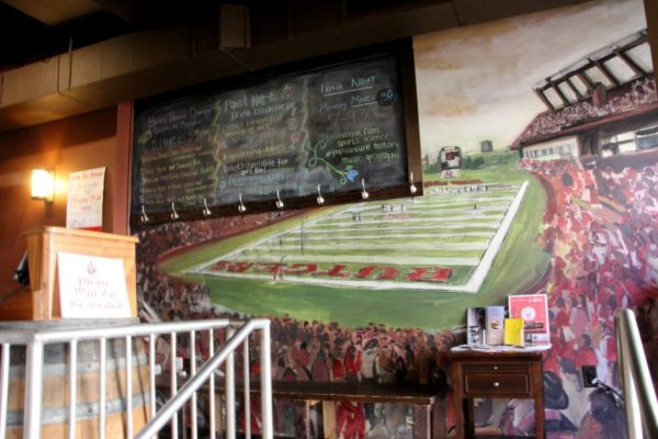 George Street Ale House New Brunswick NJ rutgers football field mural