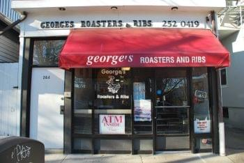 George's Roasters & Ribs Princeton NJ chicken wings store front