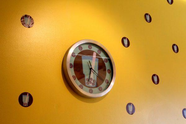 Hokkaido Bubble Tea House New Brunswick NJ boba tea time clock