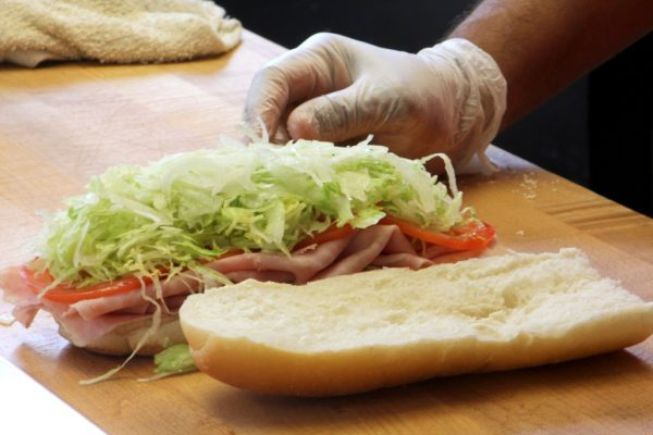 Hub City Subs 'n Grill New Brunswick NJ ham sandwich
