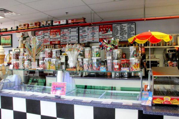 Ice Cream Parlour Cherry Hill NJ counter