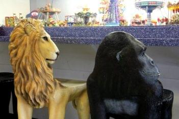 Ice Cream Parlour Cherry Hill NJ lion gorilla chair jumanji
