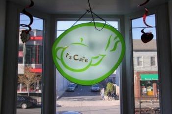 I's Cafe House New Brunswick NJ bubble boba tea sign