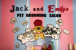 Jack & Emily's Pet Salon Voorhees Township NJ pet grooming sign