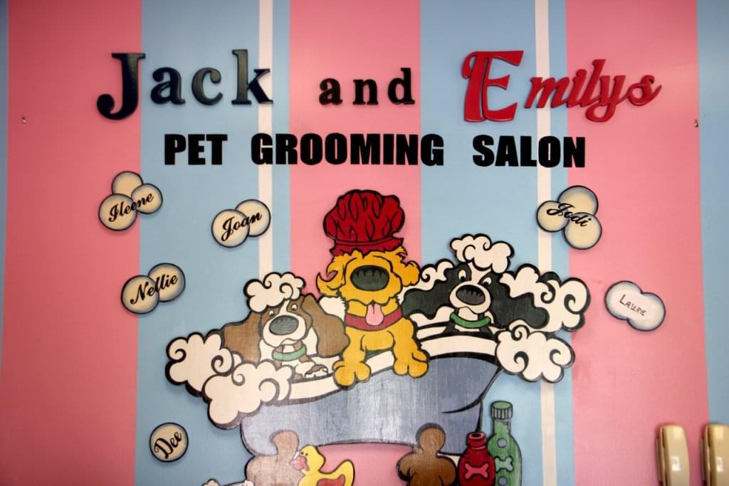Jack & Emily's Pet Salon Voorhees Township NJ pet grooming sign