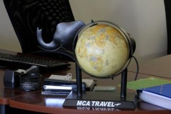 MCA Travel Inc Cherry Hill NJ elephant globe
