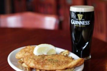 Mcbride's Irish Pub Providence RI guinness fish and chips