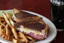 Mcbride's Irish Pub Providence RI guinness reuben sandwich