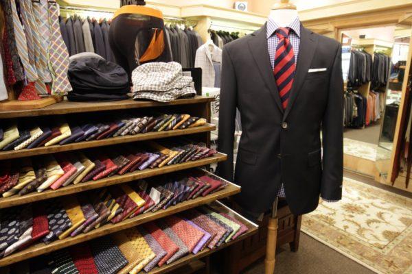 Milan Fine Clothiers Providence RI suit jacket tie