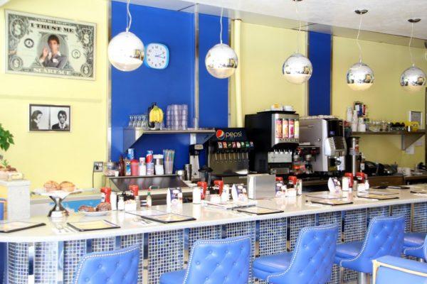 Mugshot Diner Mt Holly NJ counter bar seating