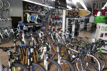 Newport Bicycle Newport RI bikes floor room
