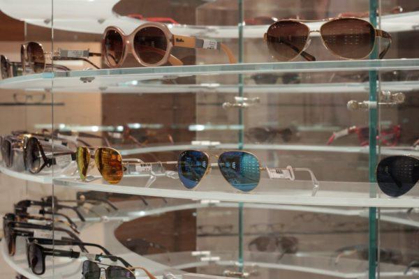 OPTX Rhode Island Johnston RI Eye Care Center Optician sunglasses display