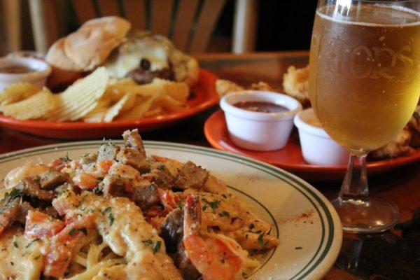 Ollie Gators Pub Berlin NJ shrimp pasta burger beer