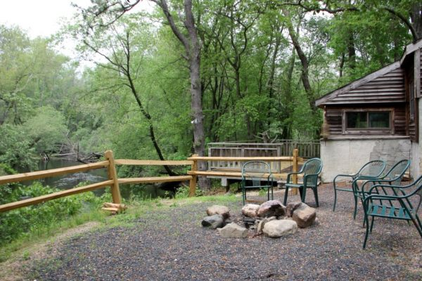 Palace Restaurant & Outfitters Mays Landing NJ cabin campfire