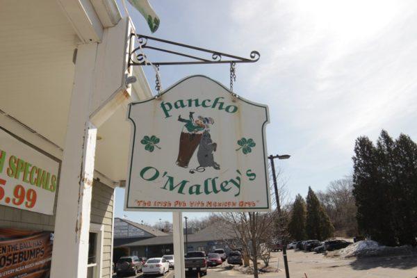 Pancho O Malleys Narragansett RI Irish Pub with Mexican Grub sign