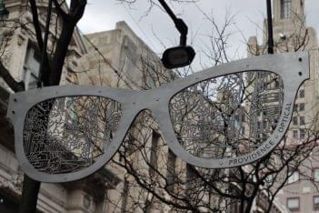 Providence Optical Providence RI eyeglasses frames sculpture sign
