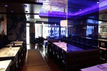 Rasa Restaurant East Greenwich RI Indian food purple decor