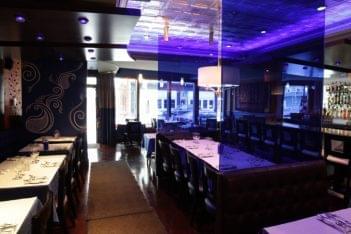 Rasa Restaurant East Greenwich RI Indian food purple decor
