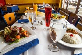 Rasoi Restaurant Pawtucket RI Indian food table spread